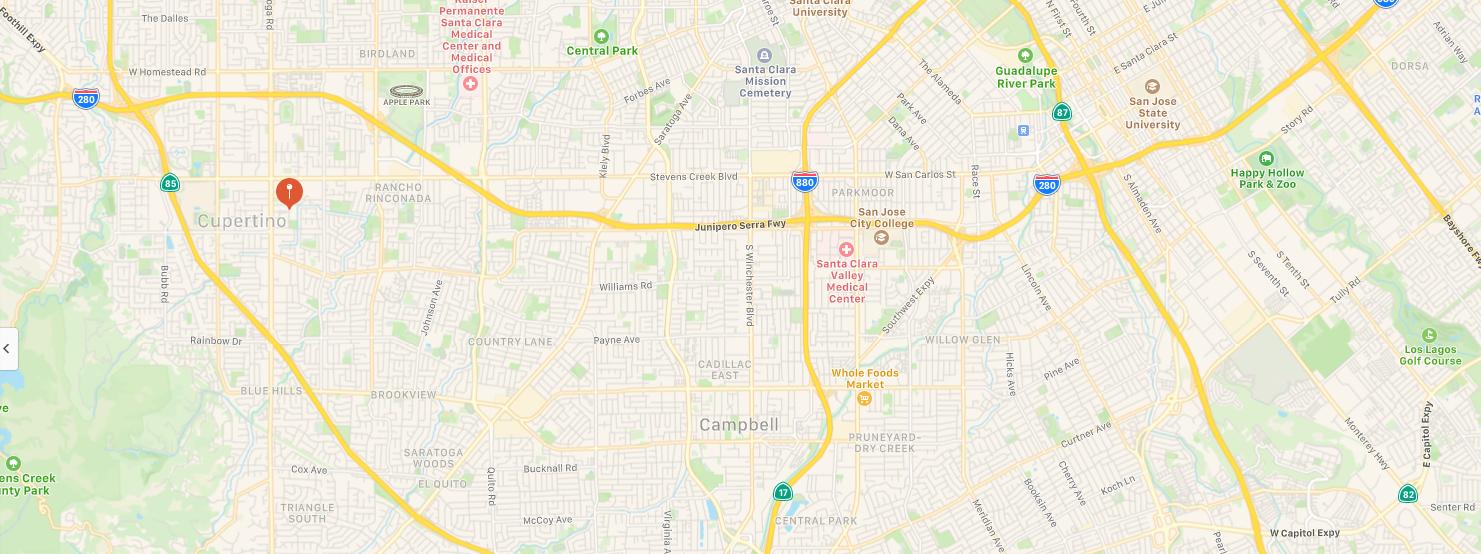 Cupertino California Map