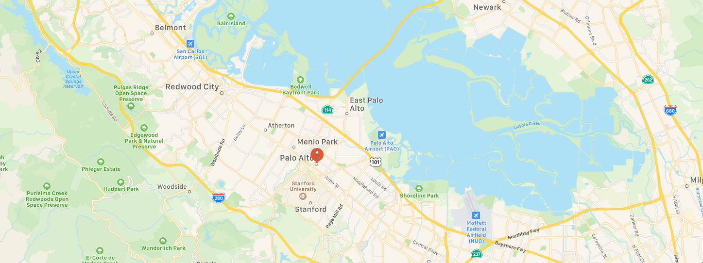 Palo Alto California Map